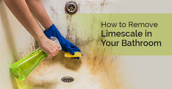 Cleaning a bathtub with corrosion and limescale